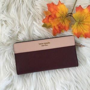 Kate Spade bicolor long wallet